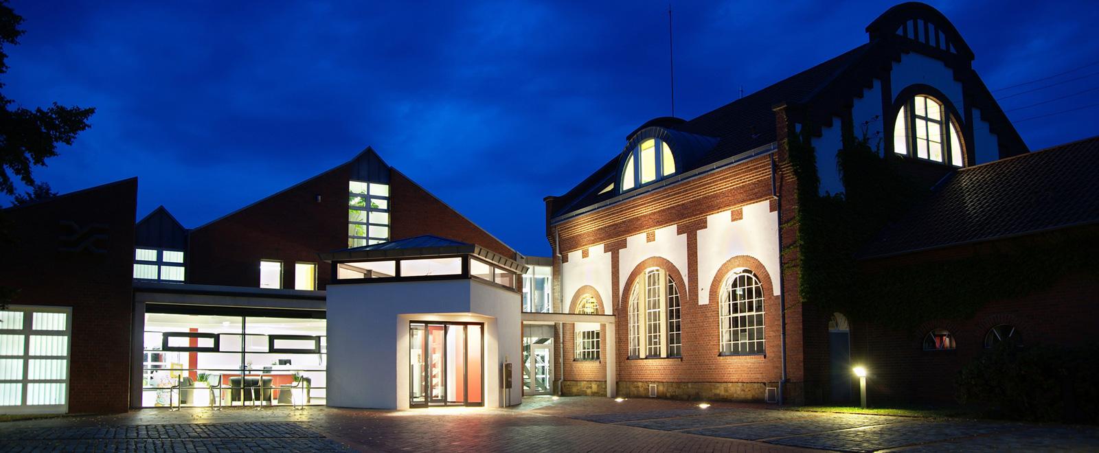 Gebäude Stadtwerke Bramsche bei Nacht